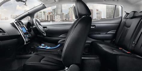 nissan leaf interior design nissan leaf electric car hatchback nissan