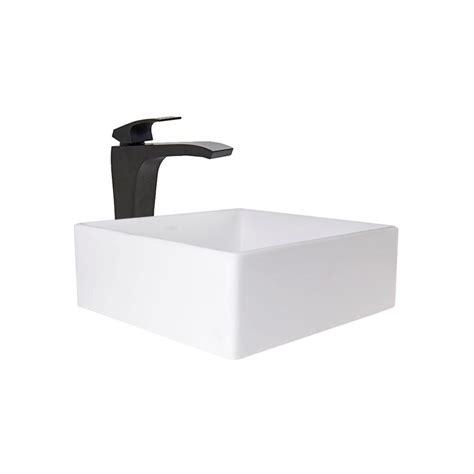 vigo dianthus matte vessel sink and matte black
