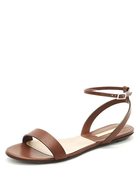 michael kors flat sandals michael kors flat sandal in brown lyst