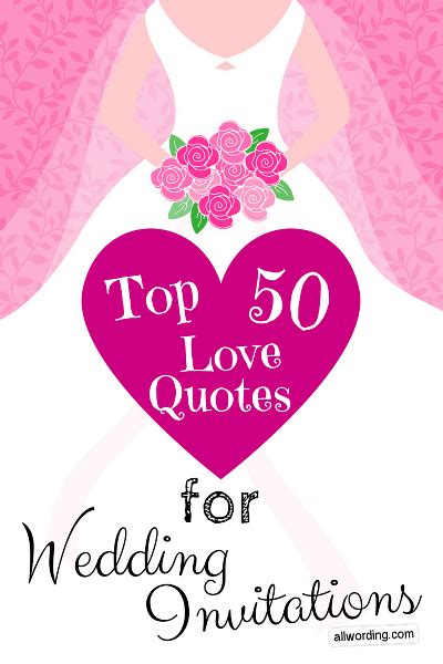 Wedding Invitations Quotations by Top 50 Quotes For Wedding Invitations 187 Allwording