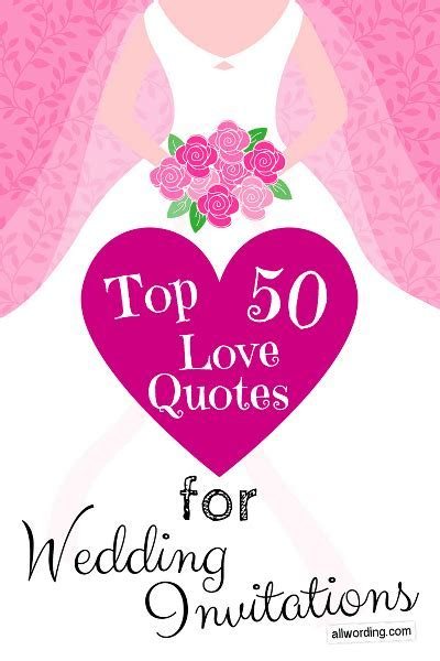 Top 50 Love Quotes For Wedding Invitations » AllWording.com