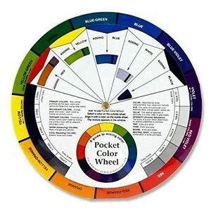 color wheel tool pocket colour wheel tool mixing paint learning artist