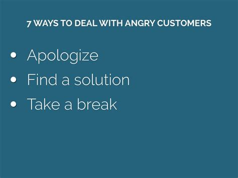 4 Types Of Up And Ways To Deal With Them by 7 Steps For Dealing With Angry Customers By Mattias