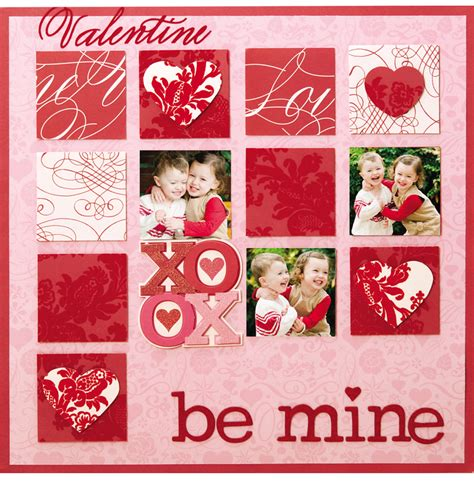 valentines scrapbook layout the valentina collection