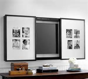 Decorative Tv Covers chadwick flat panel tv frame pottery barn