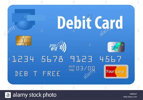 Debit Card Background Template by Debit Card Blue Card Generic Isolated On A White