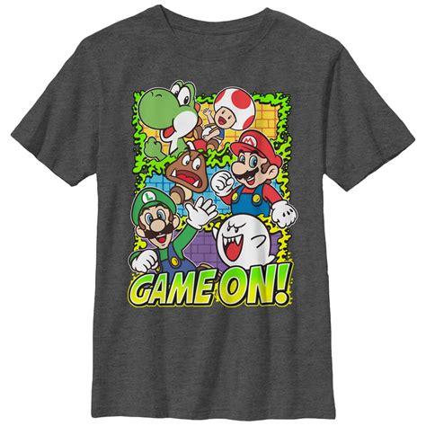 T Shirt Mario Bros World nintendo boy s mario on t shirt
