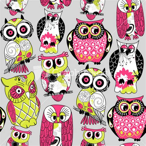 vector owl tutorial seamless owl pattern stock image