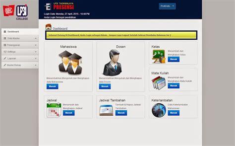 presensi tutorial upi 2015 absensi online berbasis web e presensi versi 1 0