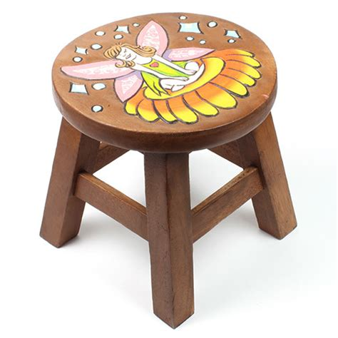 Handmade Wooden Stool - handmade chunky flower wooden stool fair trade ebay
