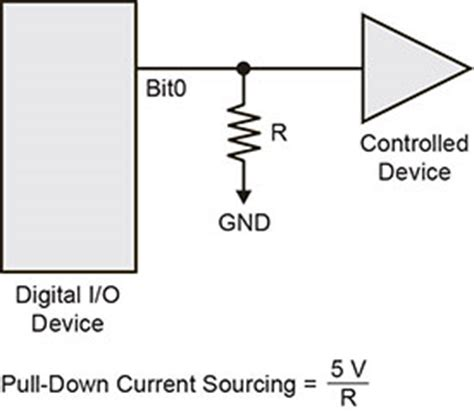 pull up resistor relay digital i o techniques