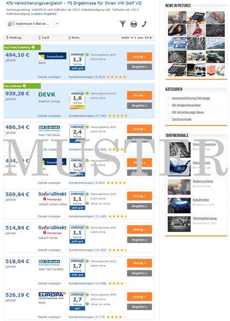 Günstige Kfz Versicherung Ohne Vorversicherung by Golf 7 Versicherung Jetzt Hier Kostenlos Vergleichen