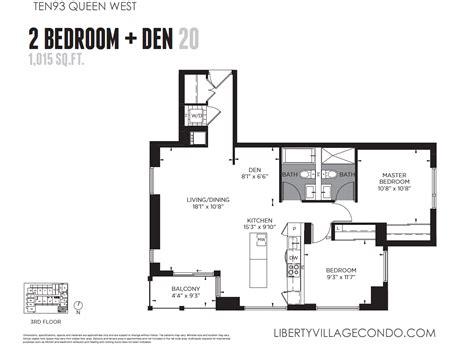 2 bedroom with den ten93 queen west pre construction condo liberty village