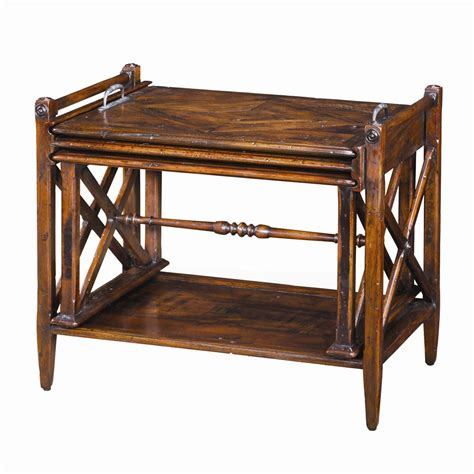 theodore tables theodore tables cb50007 antiqued wood parquetry table nest baer s furniture end tables