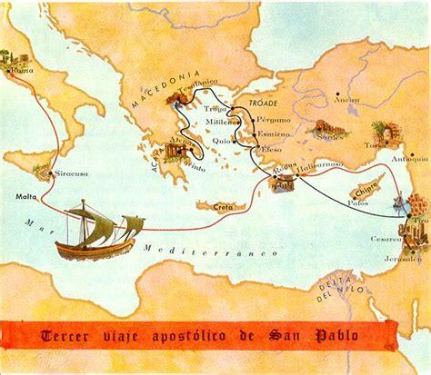 cuarto viaje misionero de pablo mapa mapas biblicos del antiguo y nuevo testamento mapa