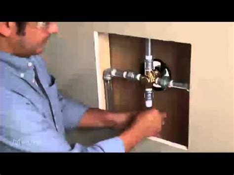 Installing A Faucet Installing A One Handle Posi Temp 174 Shower Valve Ips To