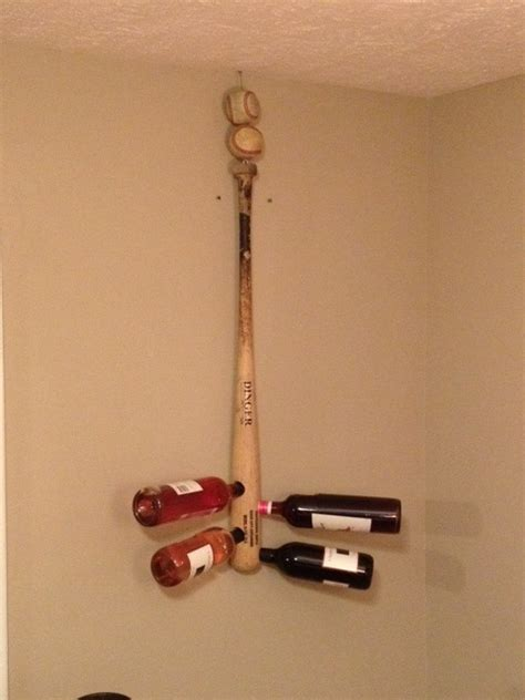 Baseball Bat Racks by Baseball Bat Wine Rack Just A City Boy