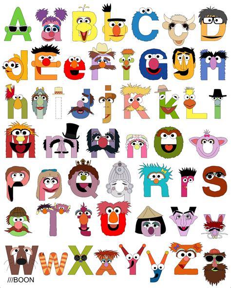 printable alphabet letters sesame street muppet mania sesame street alphabet