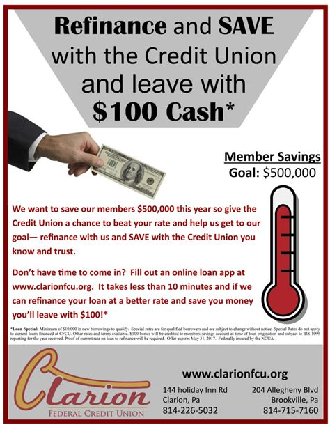 Forum Credit Union On Brookville Road Sponsored Content Refinance With Clarion Federal Credit Union And Get 100 Exploreclarion