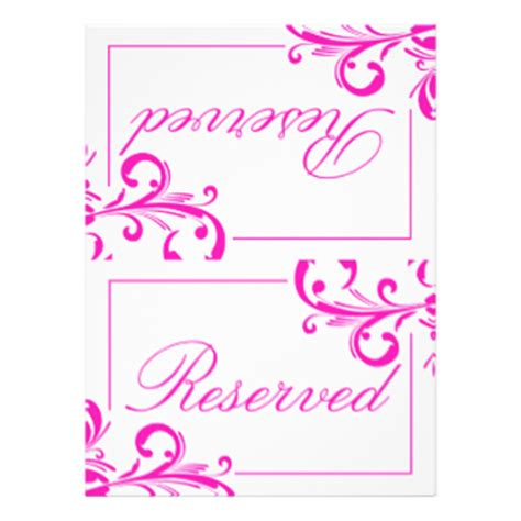 Wedding Reserved Table Invites 52 Wedding Reserved Table Invitation Templates Reserved Place Card Template