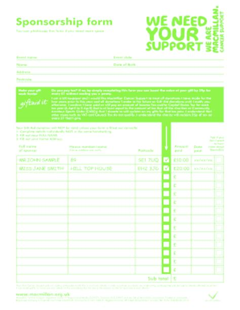 sponsor forms templates free 1000 images about nose