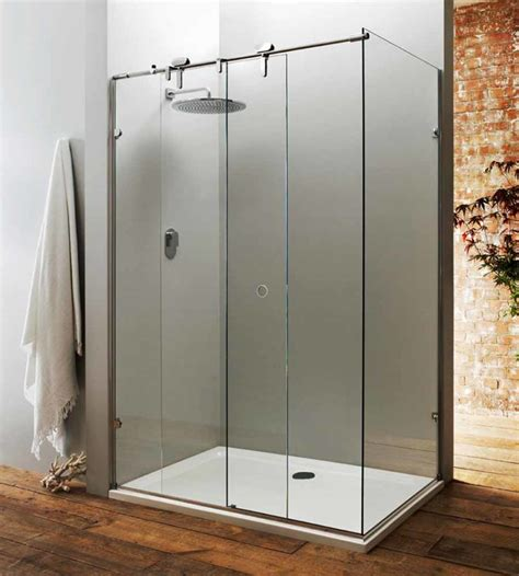 Shower Enclosure Sliding Door Sliding Shower Doors As Great Choice To Save Bath Space Traba Homes