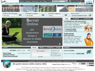Www Banca Carige It Servizi On Line by Www Carige It