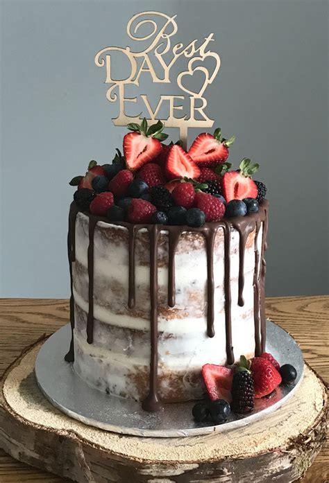 drip wedding cake stylish wedd blog