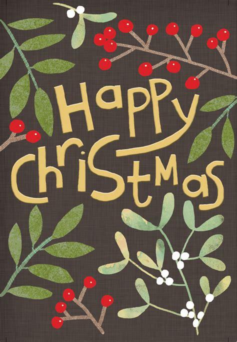 christmas foliage christmas card   island