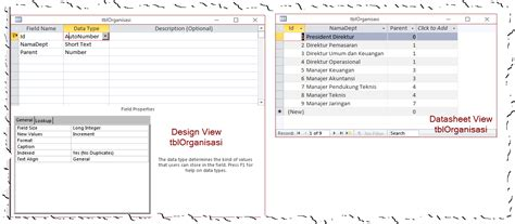 membuat query dengan design view membuat recursive query di access access terapan