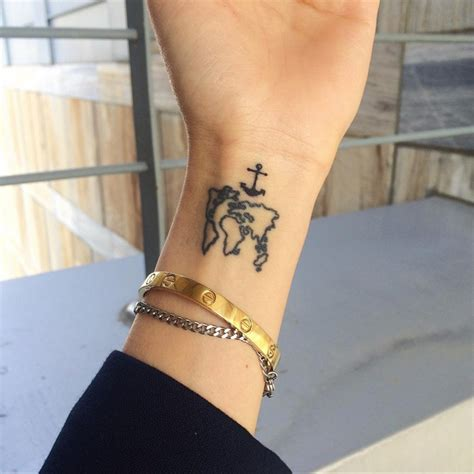 world wrist tattoo 21 world map designs ideas design trends