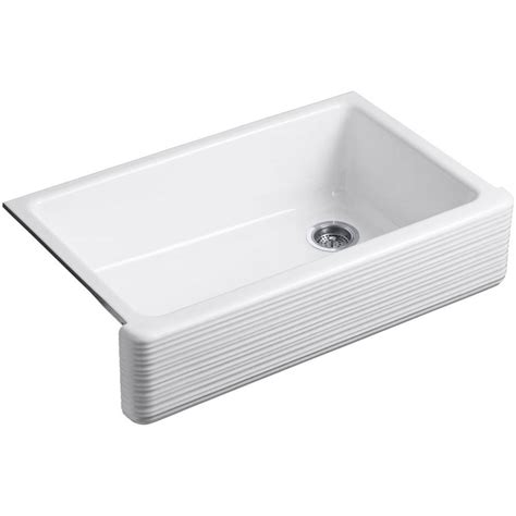 36 In Kitchen Sink Kohler Whitehaven Smartdivide Undermount Farmhouse Apron Front Cast Iron 36 In Single Basin