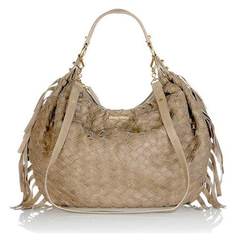 Miu Miu Woven Leather Tote by Miu Miu Woven Leather Hobo Bag