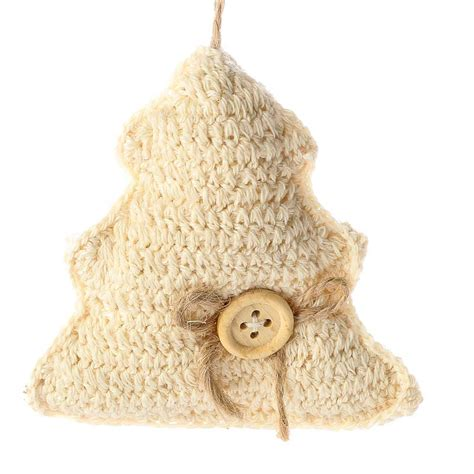 ivory knitted christmas tree ornament christmas