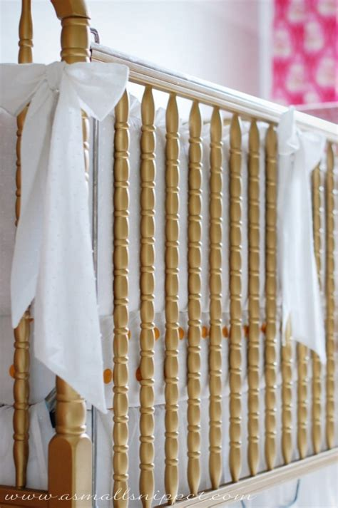 Can You Spray Paint A Baby Crib by Gold Cribs Project Nursery