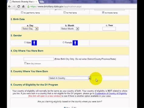 biography form for green card how to fill form of dv lottery youtube youtube