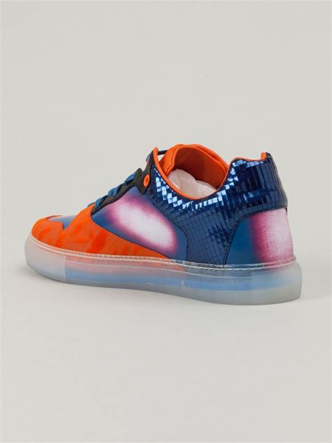 balenciaga sneakers for balenciaga contrast panel sneakers in blue for lyst