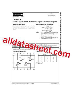 74 Ls 38 7438 74ls38 2 Input Nand Buffer 74ls38 データシート pdf fairchild semiconductor