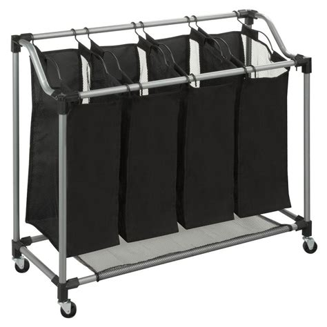 Oceanstar X Frame Bamboo 3 Bag Laundry Sorter Xbs1484 Laundry Separator