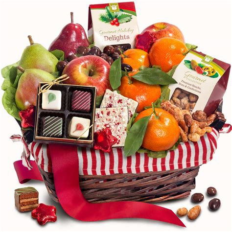 golden state fruit rustic treasures holiday christmas gift basket dried fruit and nuts in keepsake bamboo cutting board serving tray with handles