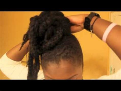 15 Chic Bun On Natural Hair Using Marley Braid Protective Marley Braid Hairstyles Youtube