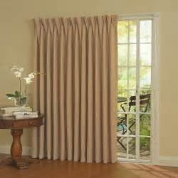 Patio Door Curtain Rod Engineered Floral Faux Silk Embroidery One Rod Split Panel With Attached Valance And Tiebacks