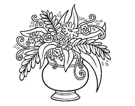 disegno vaso di fiori disegno di un vaso con fiori da colorare acolore