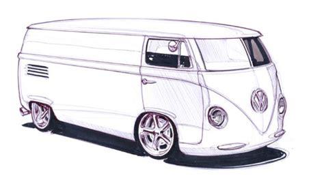 Vw Van Sketch By Magnek On Deviantart Vw Coloring Page