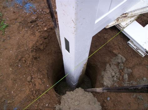 install l post concrete download how to install fence panels in existing concrete
