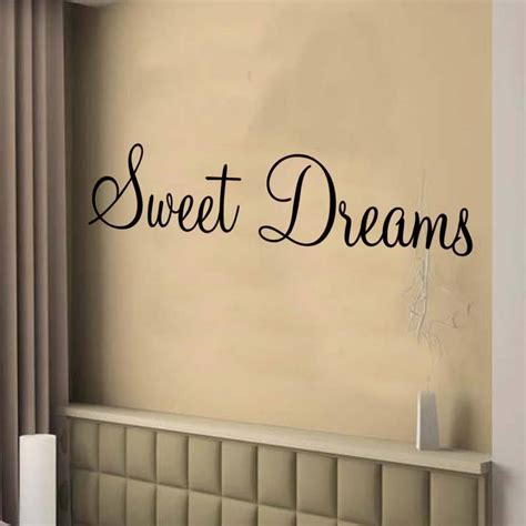 large wall decals for bedroom sweet dreams wall art sticker bedroom decor large ebay