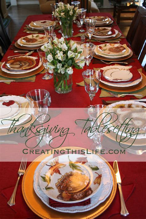 thanksgiving table with turkey thanksgiving tablesetting creating this