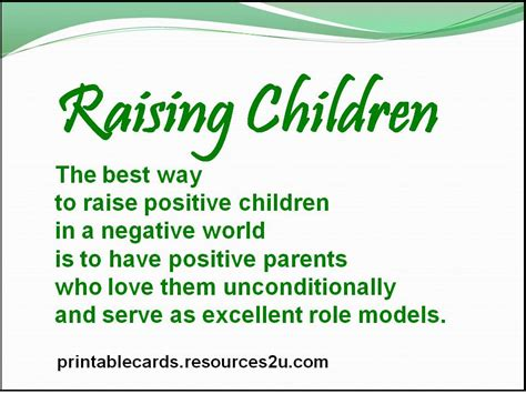 what is the best way to raise a the best way to raise positive children in a negative