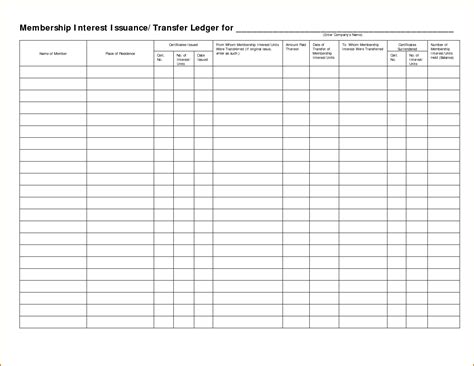 Stock Ledger Card Template by Stock Ledger Template Template
