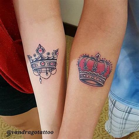 matching crown tattoos by van drago for the love of ink